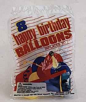 Birthday Balloons 8Ct Per Pack 12 Pack