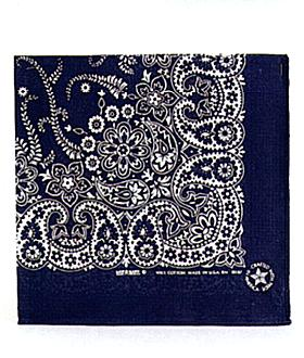 Blue Bandana 12 Ct Paisley Design