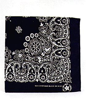 Black Bandana 12 Ct Paisley Design