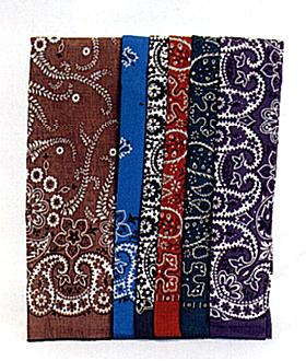 Assorted Dark Color Bandanas 12 Ct