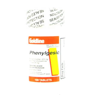 Phenylgesic 325 30Mg Tablets 100