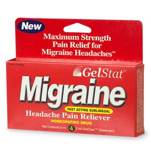 Image 0 of Gelstat Migraine Sublingual Pain Relief Oradose Dispensers 4X2 ml