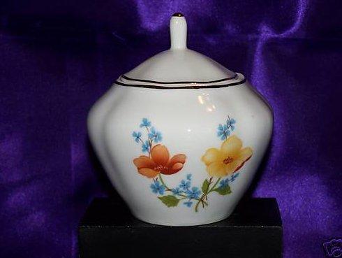 Forget Me Nots, Poppy Flower Sugar Bowl, Trinket Box Romania