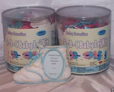 Image 0 of Baby Shower Lei Necklace Craft Kits with Bonus, Makes 16 Leis