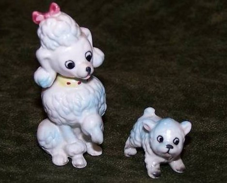Josef Originals Poodle Mom and Pup Puppy, Japan