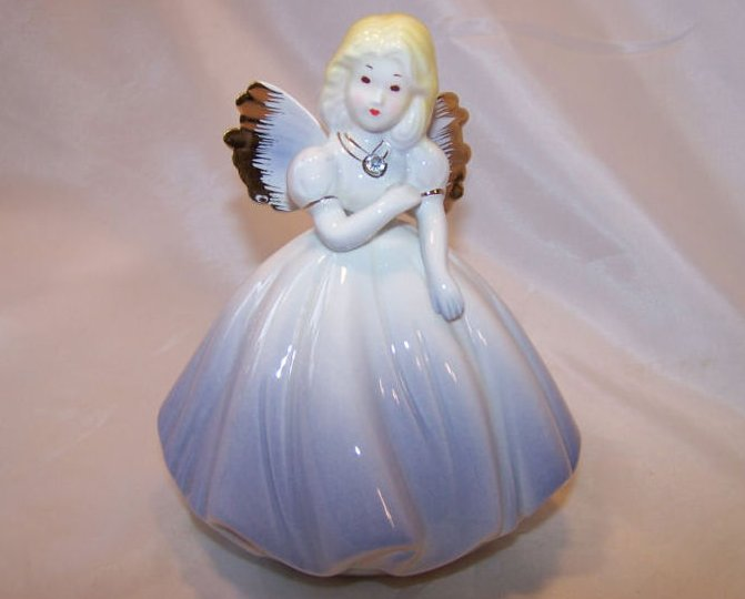 Josef Originals Angel in Periwinkle Dress, Rhinestone