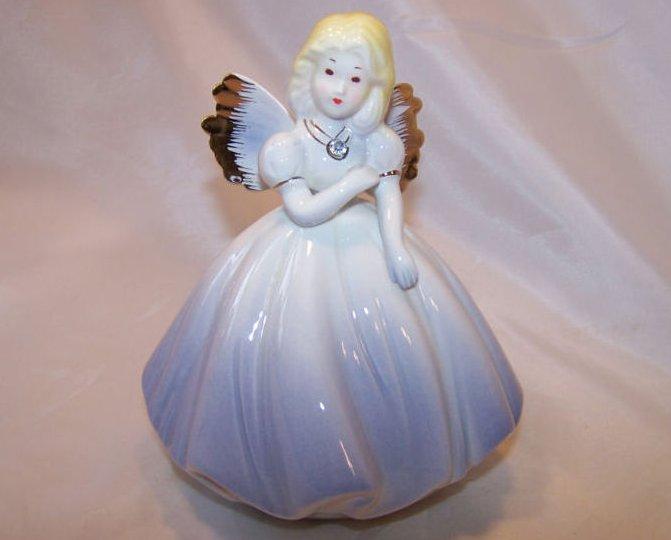 Josef Originals Angel in Periwinkle Dress, Rhinestone