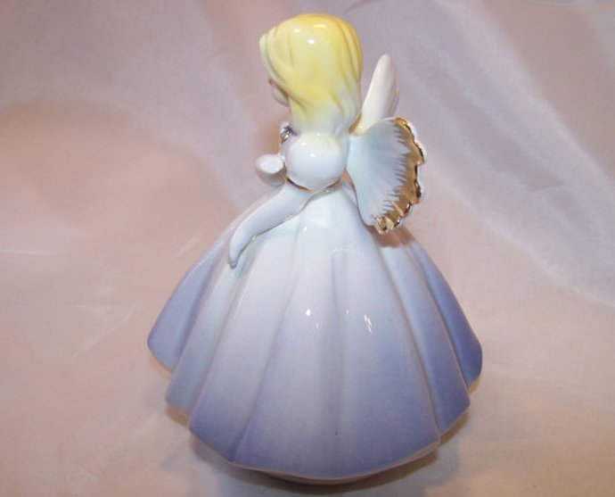 Image 1 of    Josef Originals Angel in Periwinkle Dress, Rhinestone