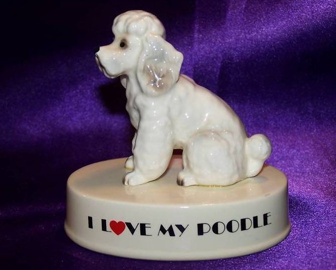 George Good I Love My Poodle Figurine, Japan
