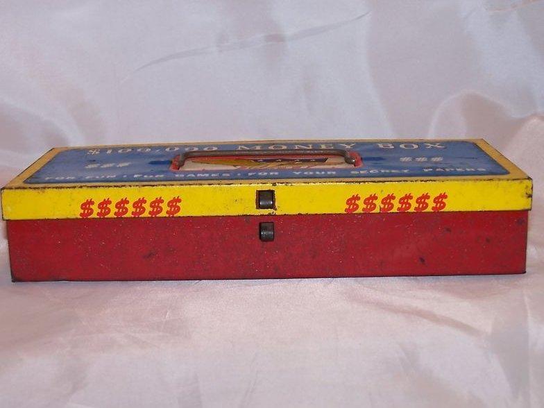 Image 2 of $100,000 Money Box Toy Tin Box, The Ohio Art Co.
