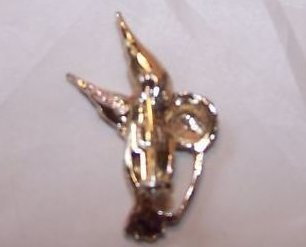 Image 1 of Gerrys Hummingbird Pin, Brooch w Rhinestone