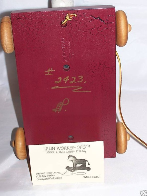 Image 1 of Wood Wooden Pull Toy Donkey, Henn Workshops, New