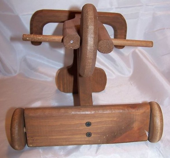 Image 3 of Doll Tricycle, Wooden, Wheels Turn
