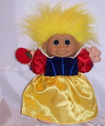 Snow White Troll with Apple, Stuffed, Plush Doll, Russ Berrie