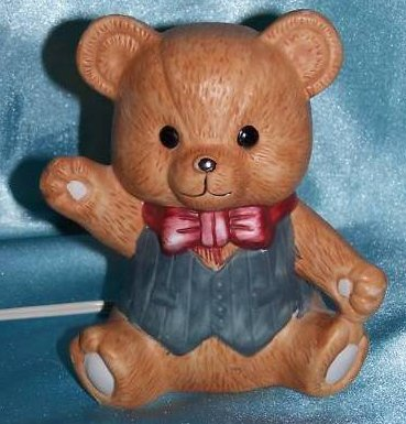 Teddy Bear Night Light, Nursery Lamp, Nursery Decor