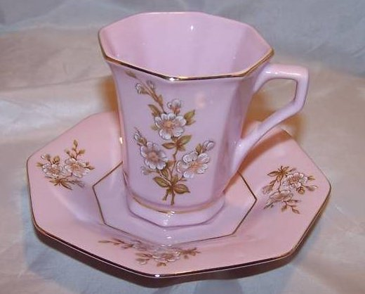 Czech RGK Leander 1946 Porcelain Demitasse Saucer Cup