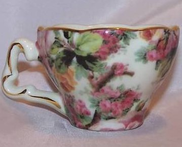 Demitasse Teacup Coffee Cup Rose Pattern