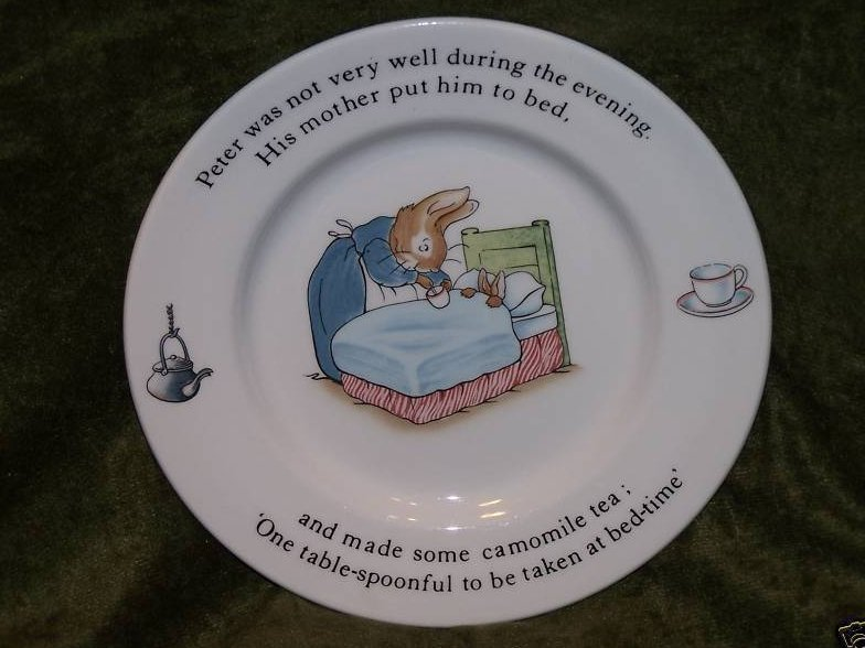 Peter Rabbit Sick, Mother, Chamomile Tea Plate, Wedgwood
