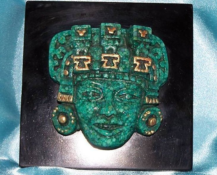 Image 0 of Great Aztec or Mayan Head, Reproduction in Crushed Marble