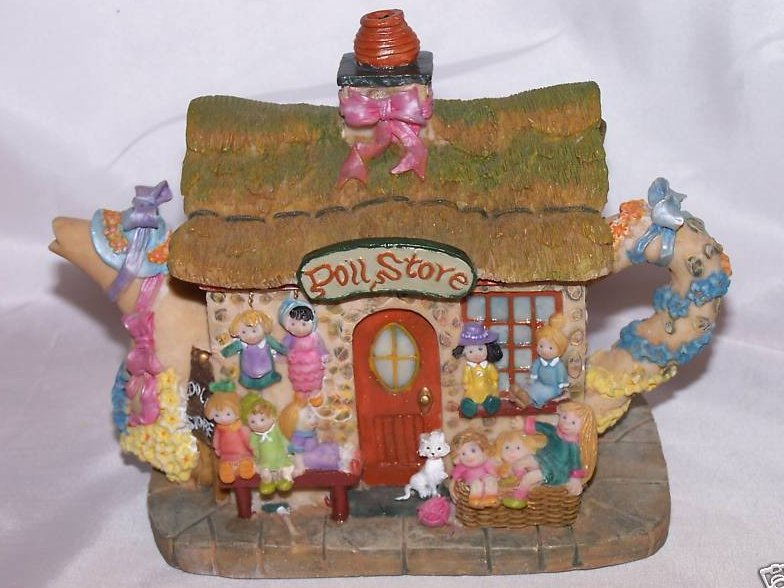 Image 0 of Doll Store Teapot Trinket Box, Fairy Sized Store
