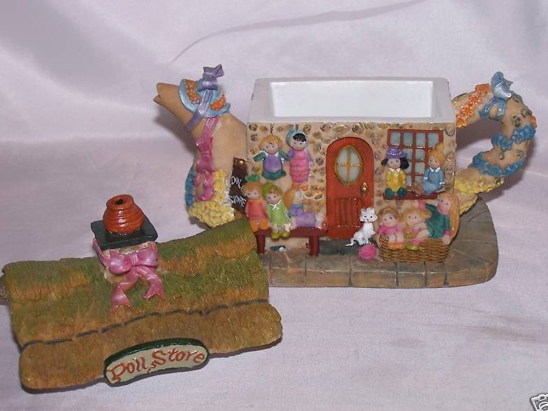 Image 1 of Doll Store Teapot Trinket Box, Fairy Sized Store