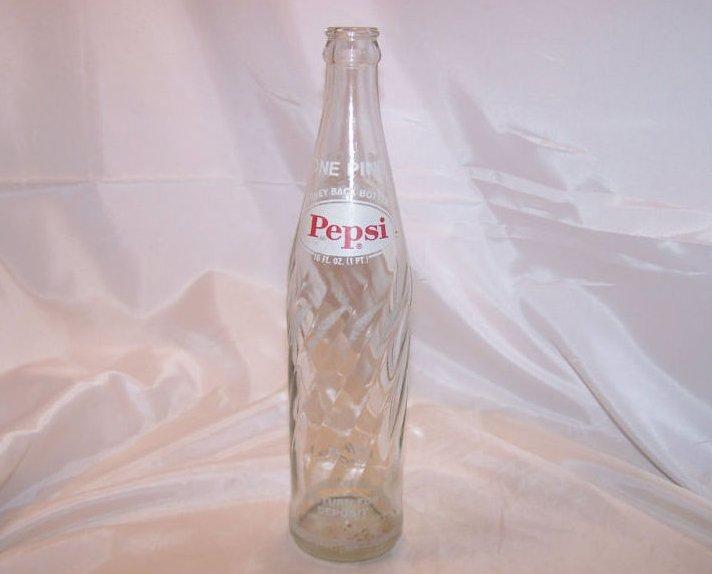 Image 1 of Pepsi Cola Pepsi Pop Bottle Old Swirled Glass
