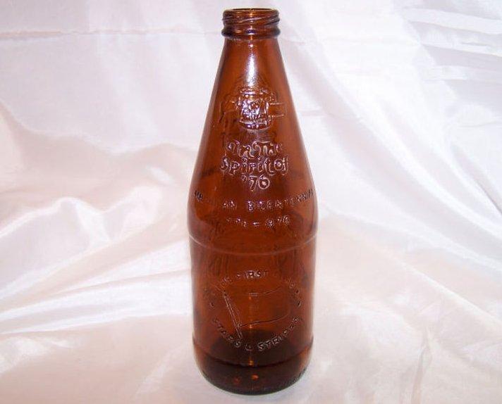 Image 1 of 1976 Fyfe and Drum Brown Glass Beer Bottle