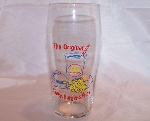 McDonald's Original Shake, Burger, Fries Glass, Cup
