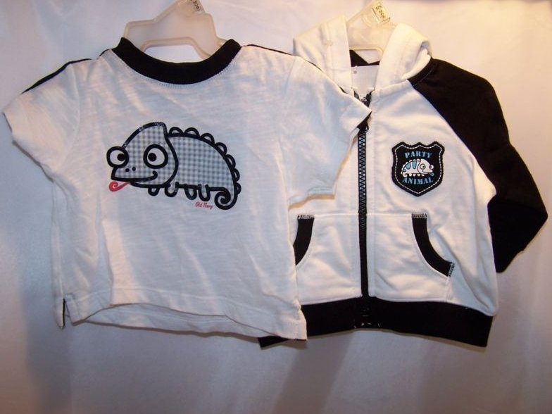 Image 0 of New Sz 0-3 Months Boys Chameleon Shirt, Hoody Outfit