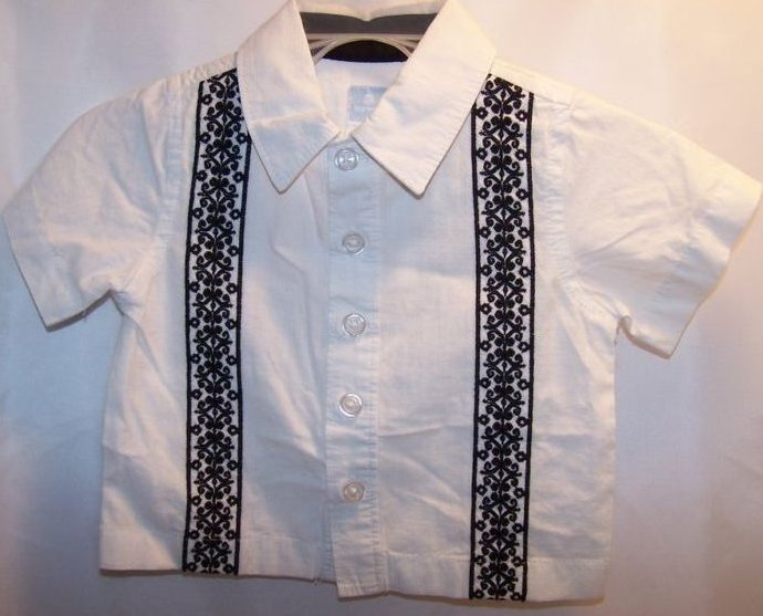 Image 1 of New Sz 0-3 Months Boys 1 pr Pants, 2 Button Shirts