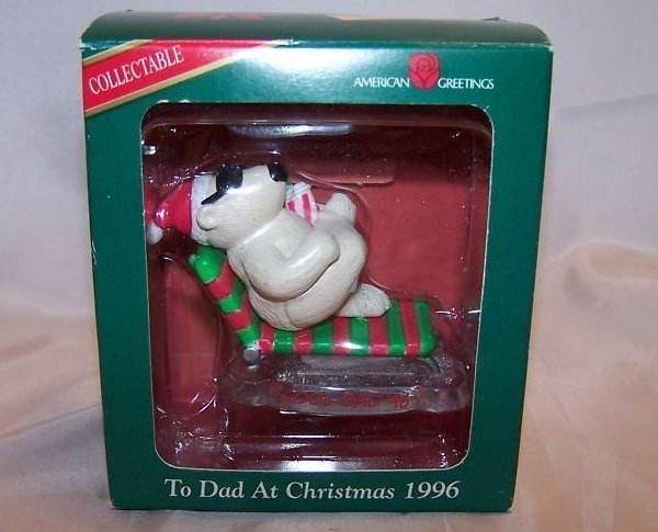 Christmas Dad Polar Bear Ornament, American Greetings, New