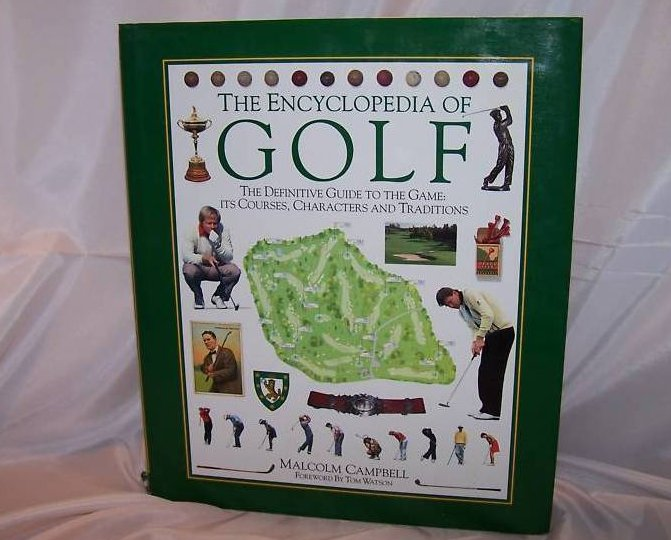 Encyclopedia of Golf Book Full Color Photos, Lots More