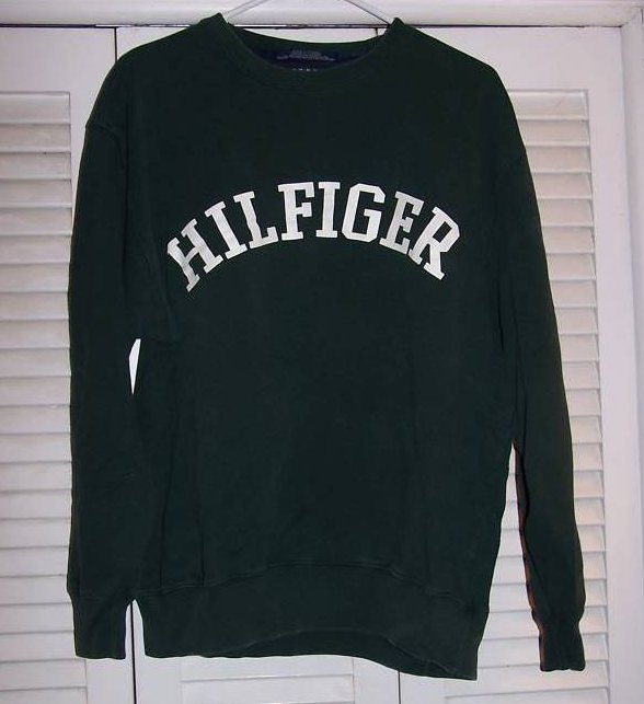 SZ M Tommy Hilfiger Green Sweatshirt Shirt, Juniors