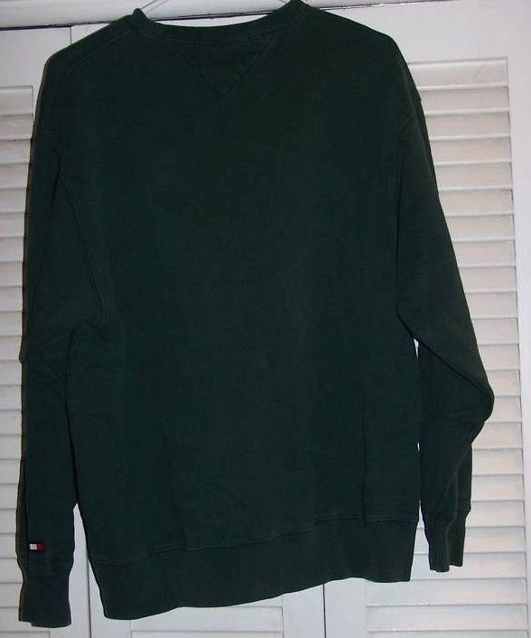 Image 1 of SZ M Tommy Hilfiger Green Sweatshirt Shirt, Juniors
