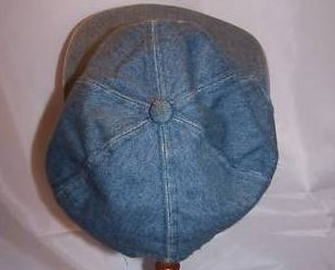 Image 1 of Ball Cap, Girls Daisy on Denim Blue, Ages 3 to 6