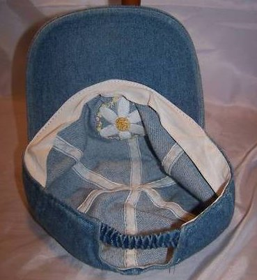 Image 2 of Ball Cap, Girls Daisy on Denim Blue, Ages 3 to 6