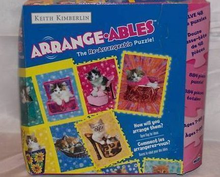 Cat Puzzles New in Box 12 Kitten Arrange-Ables Puzzles Puzzle