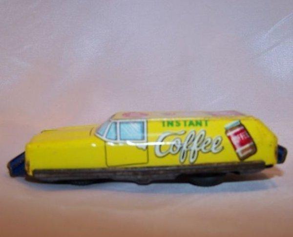 Tin Coffee Car, Friction Engine Motor, Japan, Vintage