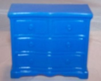 Image 0 of Dollhouse Dresser, Plastic, Superior, Vintage