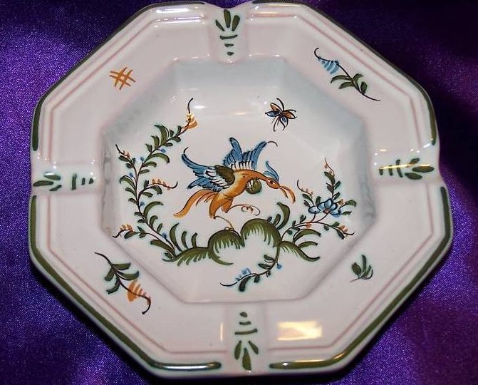Image 0 of Lallier-Moustiers Ashtray Ash Tray w Trademark Bird, Mint, Rare