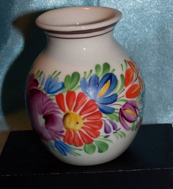 Image 0 of Chodovia Czech Art Pottery Vase, Original, Mint