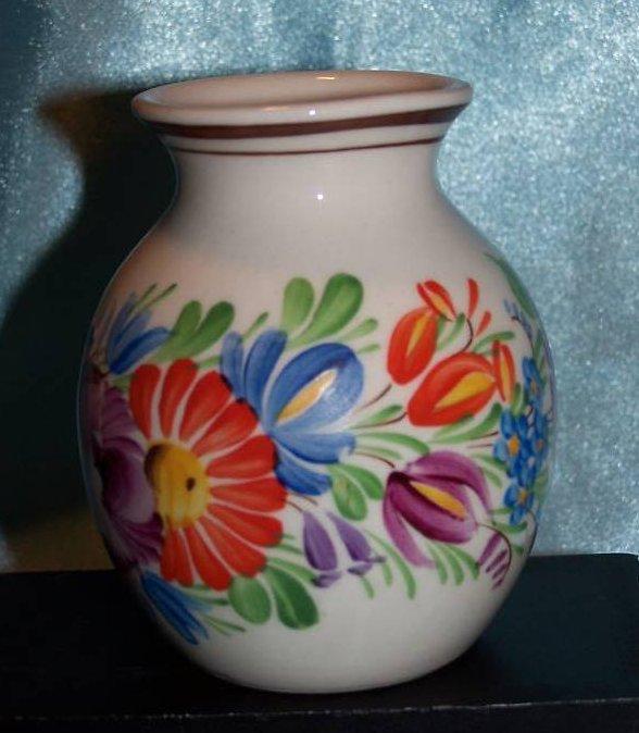 Image 3 of Chodovia Czech Art Pottery Vase, Original, Mint