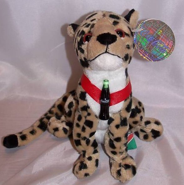 Coca-Cola Coke Cheetah, Africa, Stuffed Plush Promo