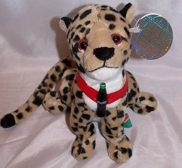 Image 2 of Coca-Cola Coke Cheetah, Africa, Stuffed Plush Promo