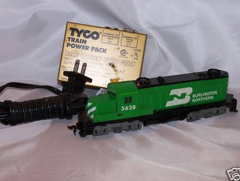 Burlington Northern Toy Train Locomotive, Power Pack