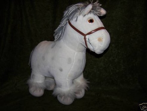 Cabbage Patch Horse Pony White Dapple Stuffed Plush