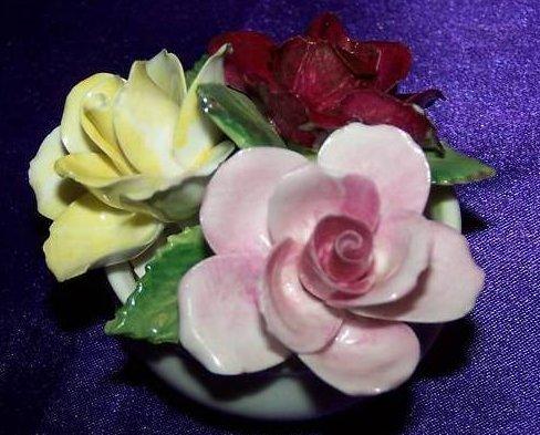 Crown Staffordshire June Flower Bouquet in Bowl, England