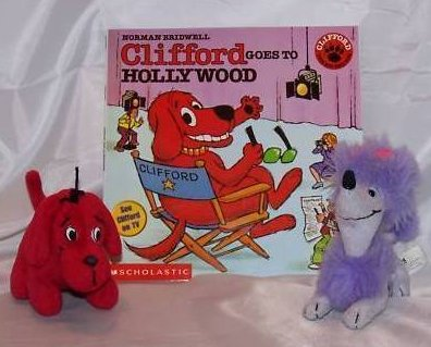 Clifford and Cleo Stuffed Plush Dogs and Book
