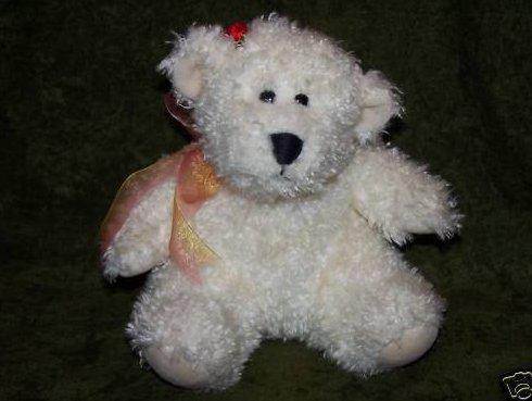 Fluffy White Teddy Bear Plush Stuffed Animal