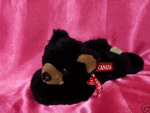 Canada Black Bear, Very Soft Plush Stuffed Animal